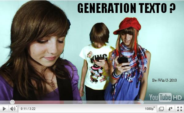 -  23/02 : Quel clip préfères-tu ? GENERATION TEXTO ou LE MONDE AVEC TOI ?!      -