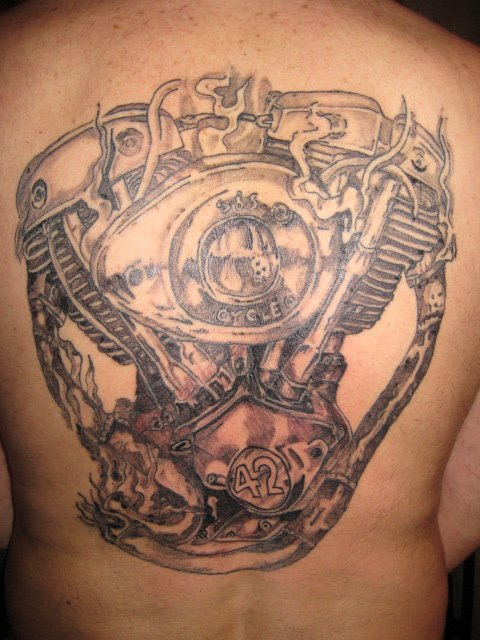 tattoo harley shovel