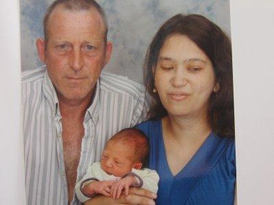 photo de jérémy est la famille a l hopital