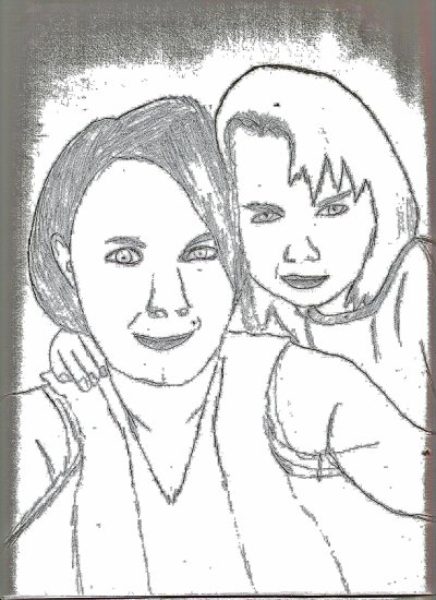 new dessin c une copine et sa fille