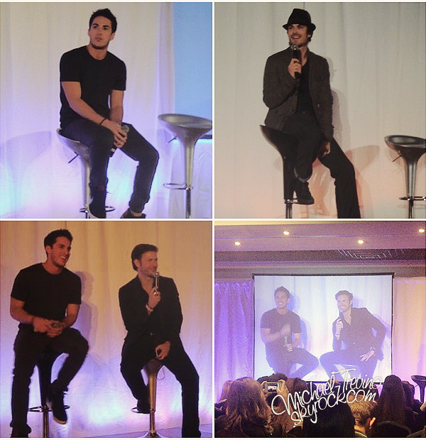 "Voici quelques photos de Michael et de ses co-stars à la convention ""Bloody Night"" !  Rappelons que Ian, Nina, Paul, Matt et bien sûr Michael étaient présents à Barcelone pour participer à cette convention."