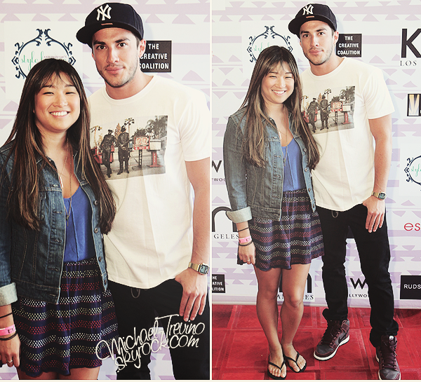 "31/05/12 : Michael et Jenna au ""Kari Feinstein's MTV Movie Awards Style Lounge"" !"