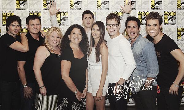 14/07/12 : Michael, accompagné d'une partie du cast de TVD au Comic Con de San Diego.
