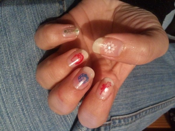 Nail art de Noël