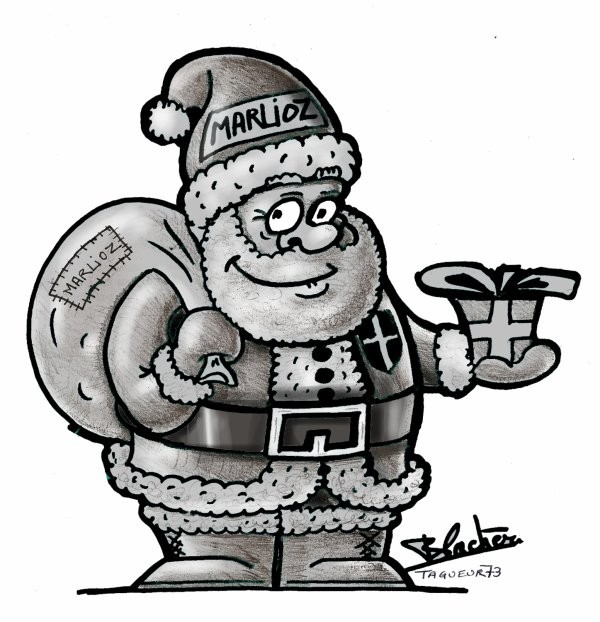 Essai De Pere Noël Noir Et Blanc Bienvenue Dans Mon