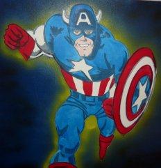 Captain America pour le bureau de Christopher :-)