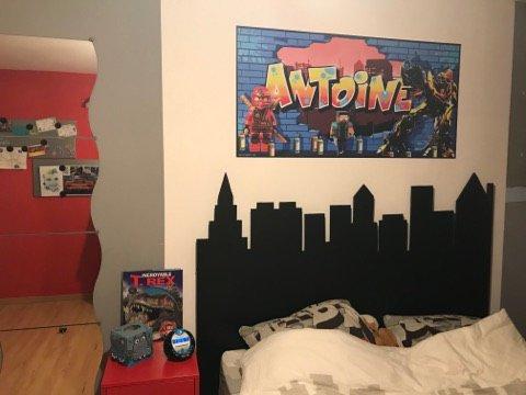 De nouveaux stickers muraux pour décorer vos chambres d'enfant. Hugo/Omar/Jessim /Léo/Evan/Antoine
