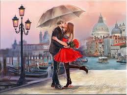 sous la pluie, l'amour est romantique