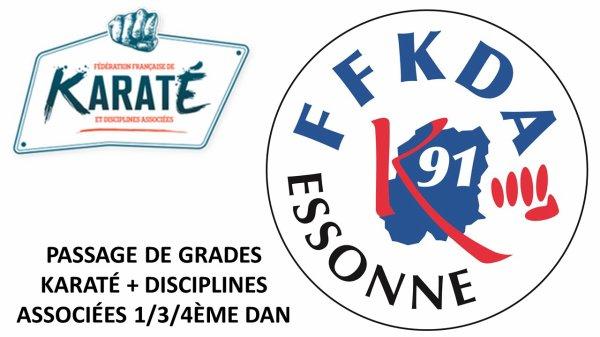 DERNIERS EXAMENS GRADES 16/17 - Comité Essonne K & DA