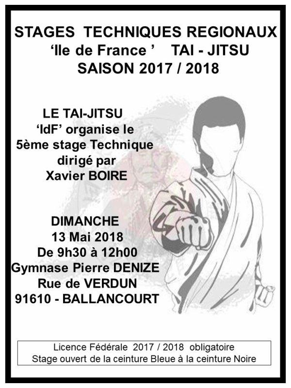A propos du Stage Technique 'T-J' sur Dojo de Ballancourt au 13 Mai ...