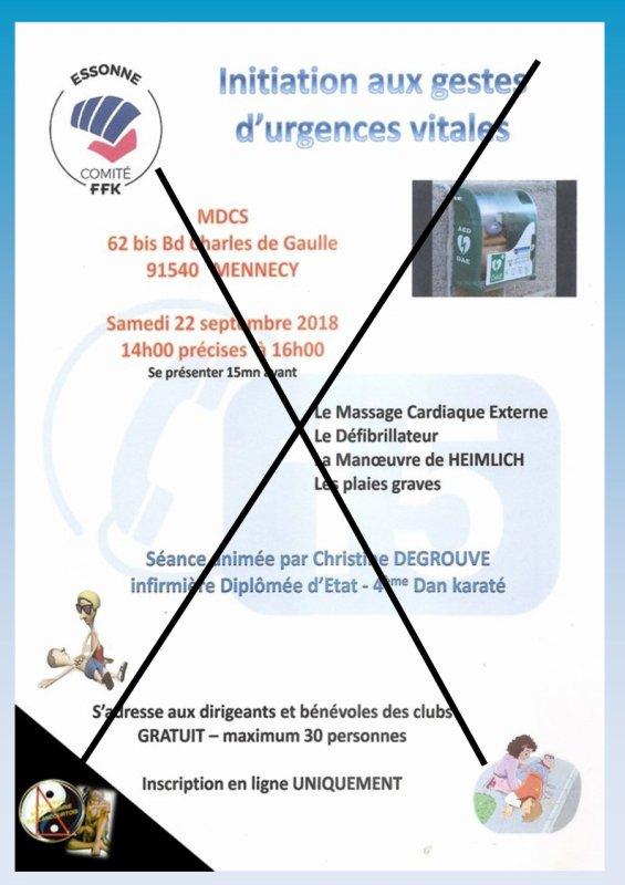 """Conférence """"Gestes d'Urgences """" ..., c'est fini"""