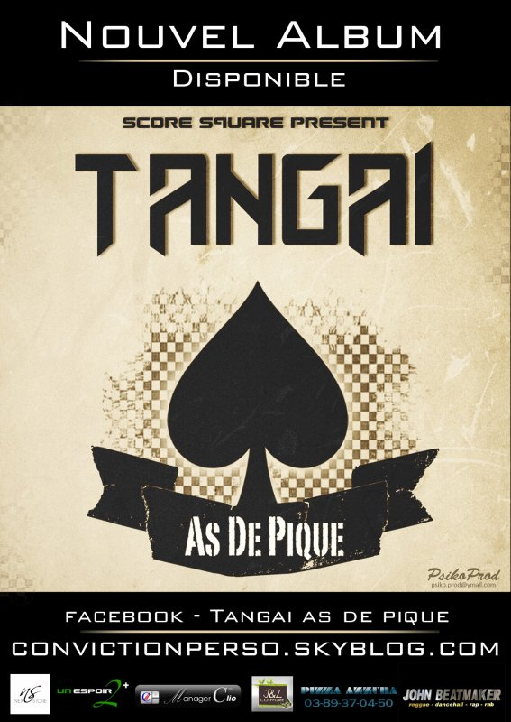 Score Square Records présent TANGAI  ''As de Pique''
