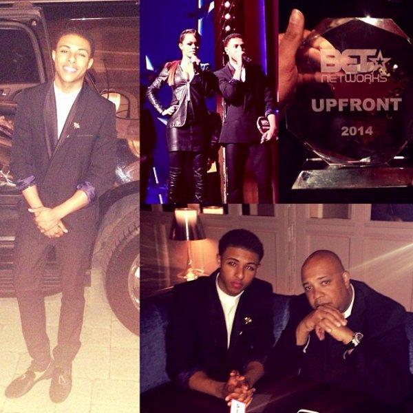 24 Avril 2014: Diggy était présent pour les BET Upfront 2014 en présence de Teyana Taylor + 2 photos instagram