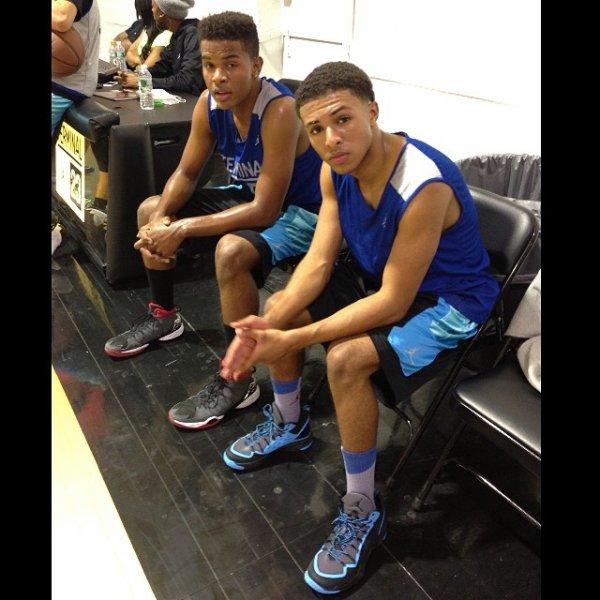 8 Mai 2014: Diggy a été aperçu dans une salle de basket en compagnie de Trevor Jackson