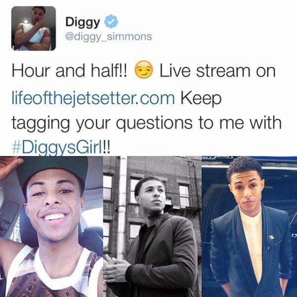 29 Mai 2014: Diggy a posté de nouvelles photos + 2 vidéos