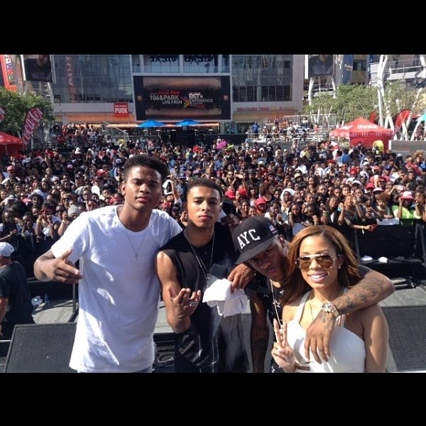 "29 Juin 2014: Diggy a performé son single ""My Girl"" en compagnie de Trevor Jackson au BET Experience 14"