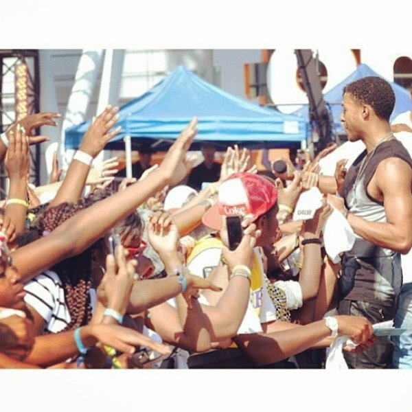 "29 Juin 2014: Diggy a performé son single ""My Girl"" en compagnie de Trevor Jackson au BET Experience 14"