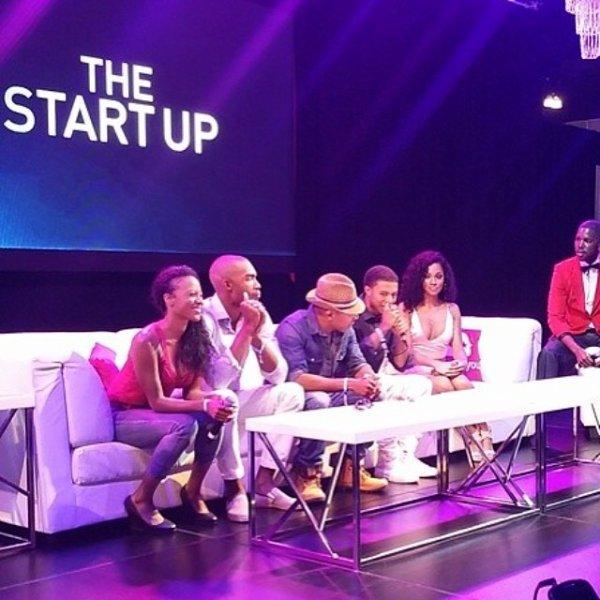 """30 Juin 2014: Diggy était présent sur le tapis rouge des BET Awards 2014, il a aussi posté des photos de lui et des acteurs de la série """"The Start Up"""""""