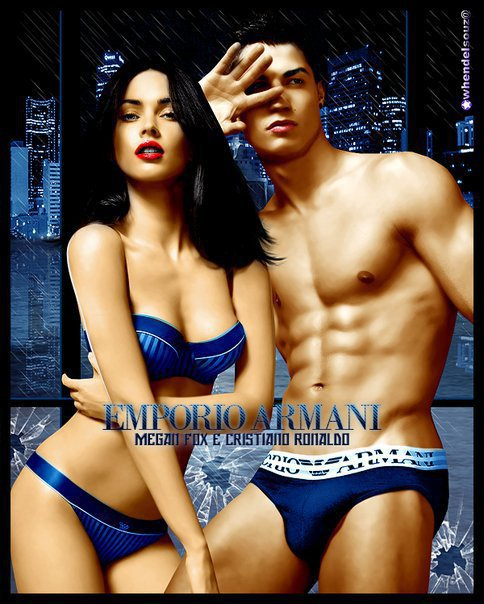 Photos de We want someone hot like Megan Fox for Cristiano Ronaldo - Megan & Cristiano ARMANI colored Pics