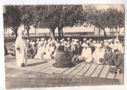 SIDI BRAHIM :Photo Ancienne , la prière de l'aid .