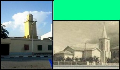 A Sidi Brahim : La mosquée prend la place de l'église.سيدي براهيم