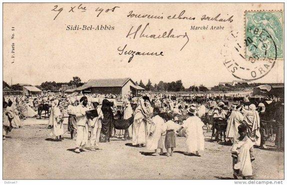 Le marché arabe de Sidi Bel Abbes [photos anciennes]