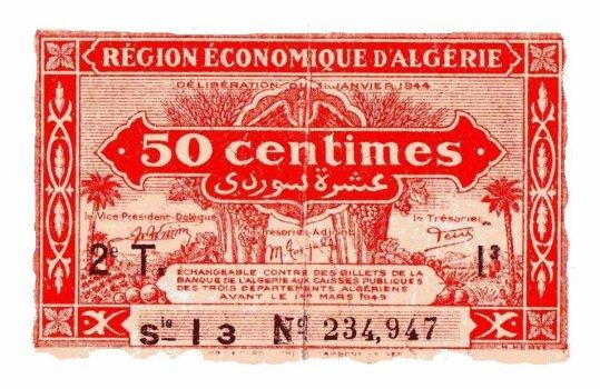 Billets de banque : Banque de l'Algerie