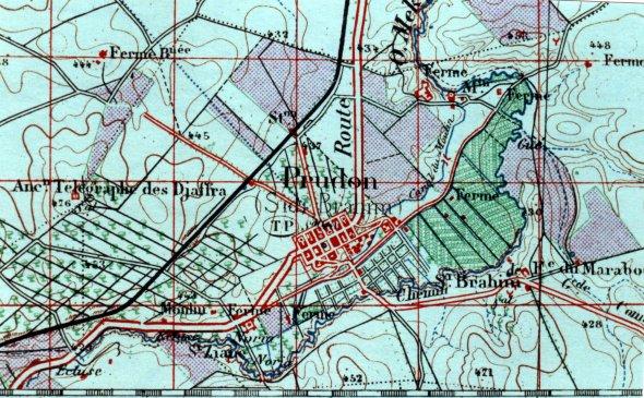 SIDI BRAHIM - PRODON :Une carte topographique de 1937