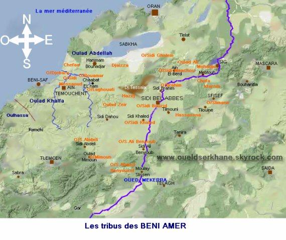 LA TRIBU DES BENI AMER  : situation géographique 1839