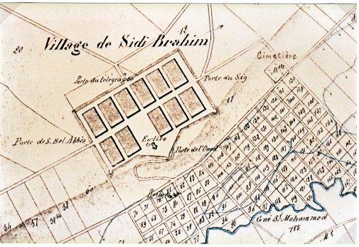 SIDI BRAHIM-PRUDON : ancien plan  envoyé par Mr G.REYMOND.