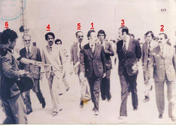 BOUBERNAS : visite du président Houari Boumedienne en 1976