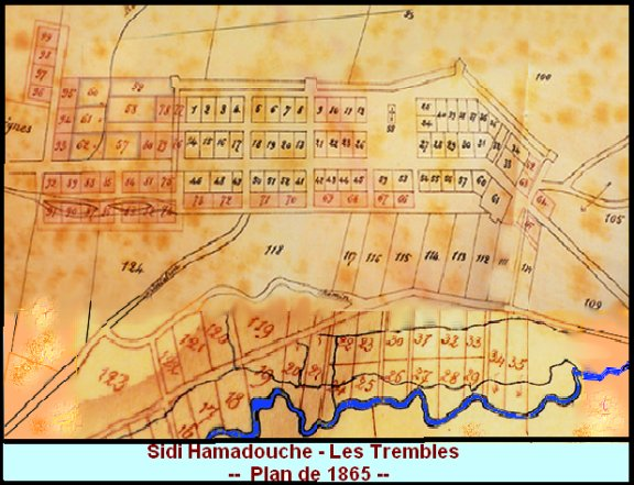 Sidi Hamadouche - Les Trembles- plan ancien