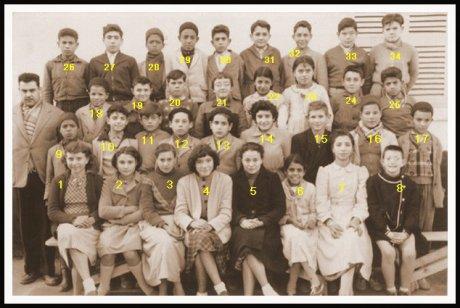 Sidi Hamadouche :Photo de classe 1955-56.