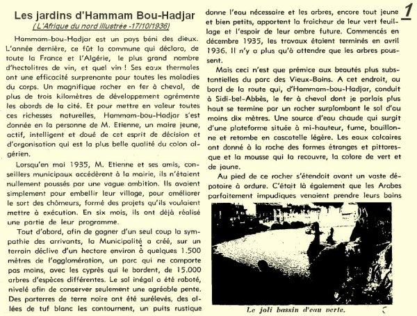 1* HAMMAM BOUHADJAR en 1936