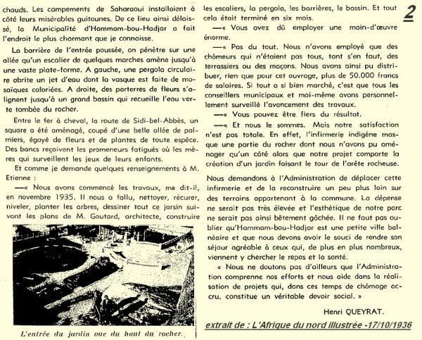 2* HAMMAM BOUHADJAR en 1936