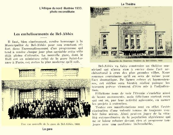Sidi Bel Abbes : les embelissements de 1933