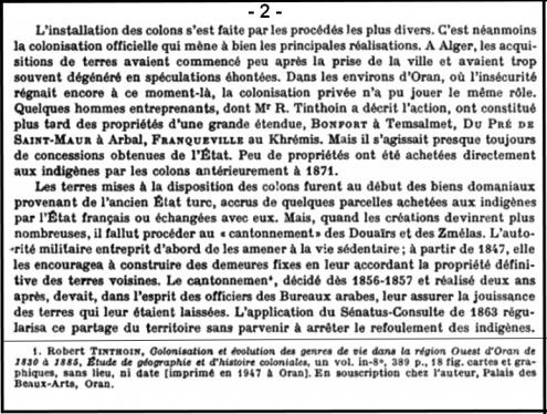 Il est écrit dans les annales de géographie de l'ouest d'Oran 1830-1885.
