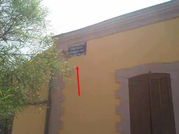 L'ancien panneau de Sidi Brahim : Prudon
