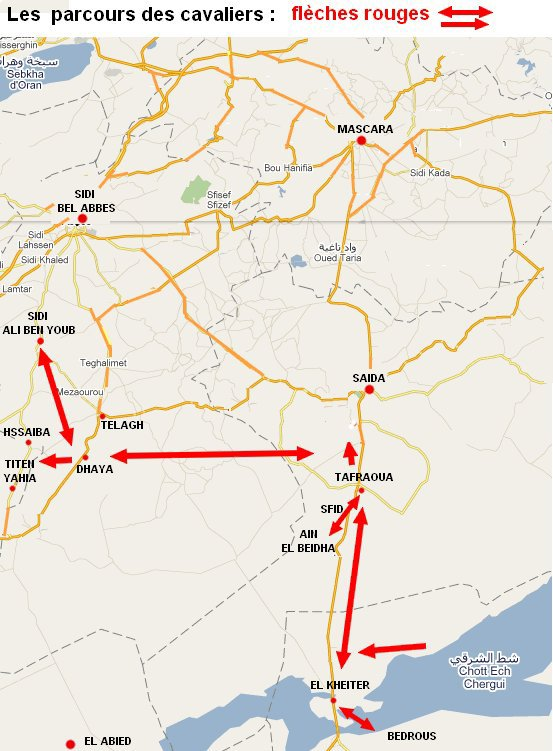 L'insurrection des oulad Sidi Cheikh  à Sidi Bel Abbés (du 28 sept au 10 oct. 1861).