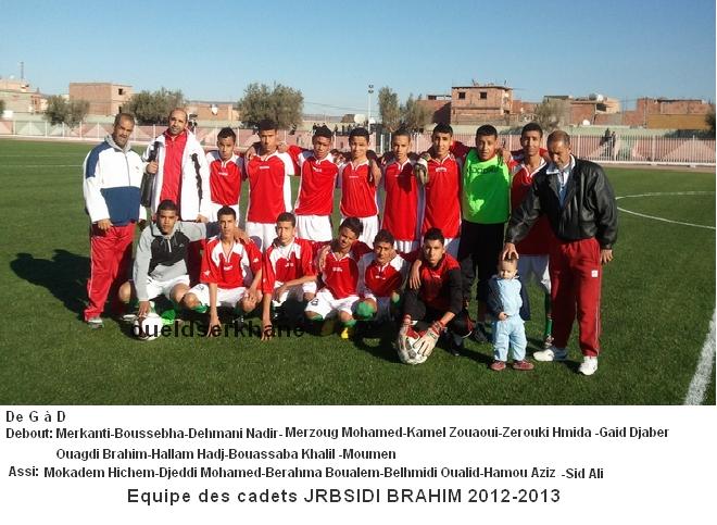 JRB SIDI BRAHIM : l'équipe des cadets 2012