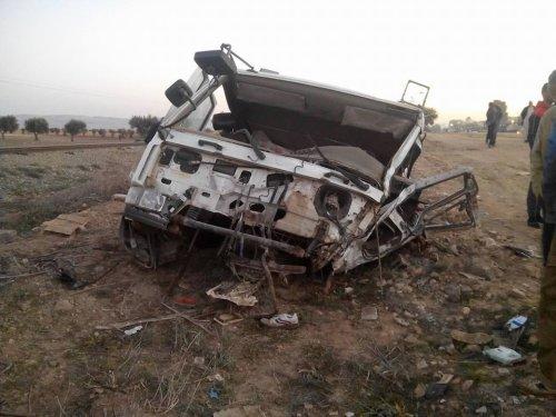 Sidi Brahim: Collision entre un tarin et un camion.