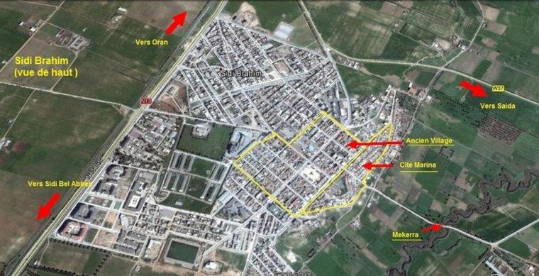 Sidi Brahim : vue de haut