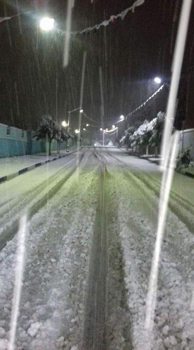 Télagh : La neige au mois d'octobre cette année