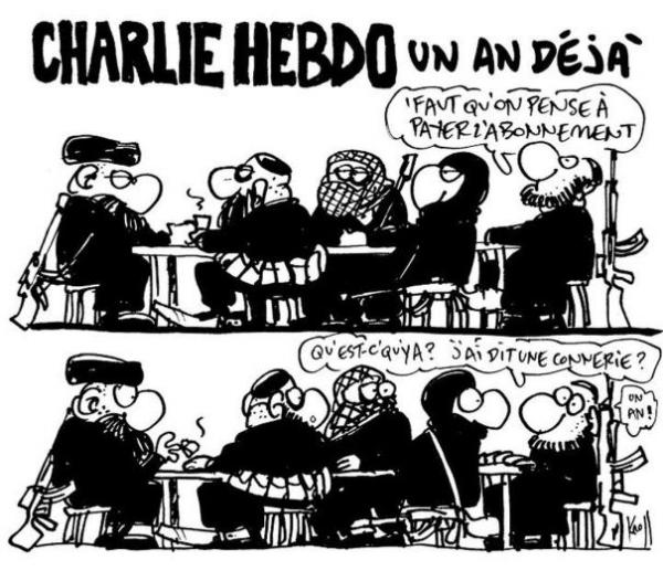 Charlie Hebdo: un an déjà!