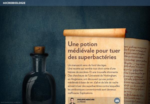 Espoir venu du Moyen Age contre les superbactéries?