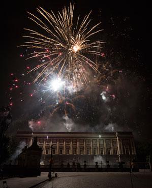 Fin de fête nationale à Bruxelles ( joie et féérie)