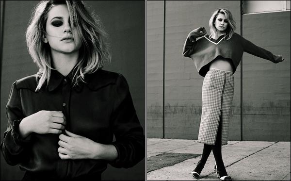 .  ▬ Deux clichés de Lili par Clay Stephen Gardner pour le magazine  « Flaunt » Top. .