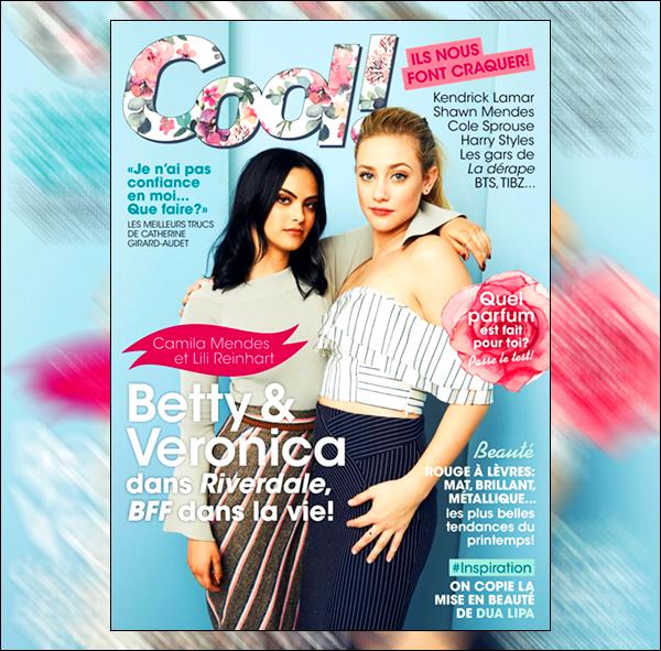 .  ▬ Lili et sa co-star Camila sont en Couv' du magazine  « Cool Canada » Février 18'. .