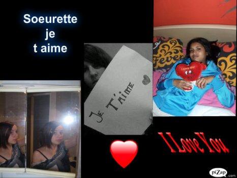 Moi & ma soeur que j'aime PQT meme si defois jlui montre Pas :( ♥