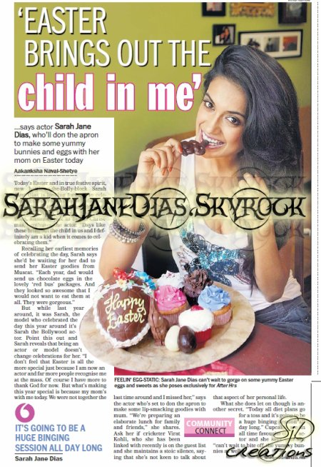 Sarah-Jane Dias - Easter Brings Out The CHILD IN ME